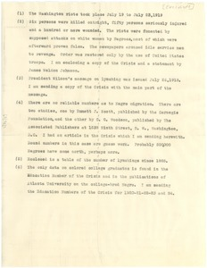 Thumbnail of Information for George G. Bradford on racial matters