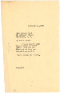 Thumbnail of Letter from W. E. B. Du Bois to Mabel Byrd