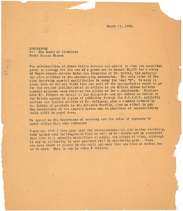 Thumbnail of Memorandum from Norman Thomas to the American Fund for Public Service, Board             of Directors