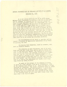 Thumbnail of General statement made by President McKenzie to an alumnus