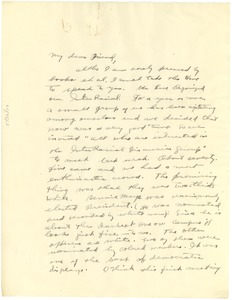 Thumbnail of Letter from Eleanor Goldsmith to W. E. B. Du Bois