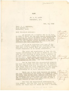 Thumbnail of Letter from A. W. Davis to Fayette McKenzie