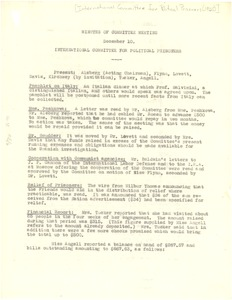 Thumbnail of Minutes of the December 10, 1925 Meeting of the International Committee for Political Prisoners