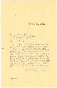 Thumbnail of Letter from W. E. B. Du Bois to J. R. E. Lee