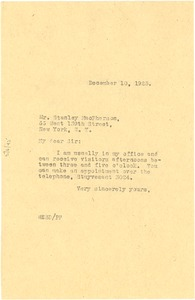 Thumbnail of Letter from W. E. B. Du Bois to Stanley MacPherson