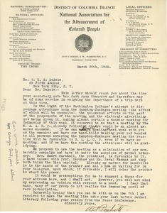 Thumbnail of Letter from William Pickens to W. E. B. Du Bois