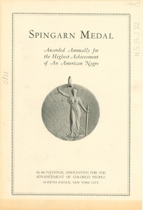 Thumbnail of Spingarn Medal leaflet