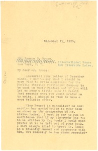 Thumbnail of Letter from W. E. B. Du Bois to Roscoe Conkling Bruce