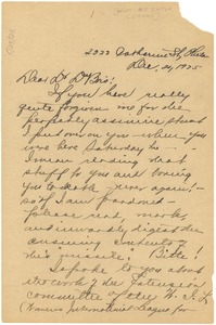 Thumbnail of Letter from Nora E. Waring to W. E. B. Du Bois