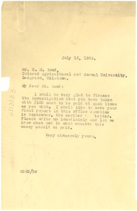 Thumbnail of Letter from W. E. B. Du Bois to H. M. Bond