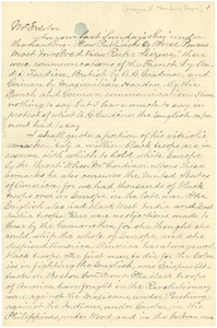 Thumbnail of Letter from Stansbury E. Boyce to the editor [fragment]