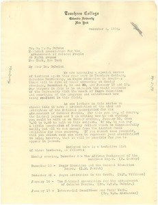 Thumbnail of Letter from Columbia University Teachers College to W. E. B. Du Bois
