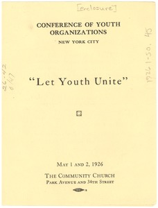 Thumbnail of Conference of Youth Organizations agenda