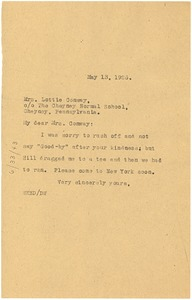 Thumbnail of Letter from W. E. B. Du Bois to Lottie Conway