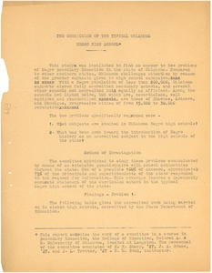 Thumbnail of The curriculum of the typical Oklahoma Negro high school
