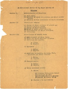Thumbnail of An educational survey of the Negro schools of Oklahoma