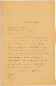 Thumbnail of Letter from W. E. B. Du Bois to Edna May Guy