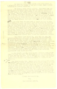 Thumbnail of Letter from W. E. B. Du Bois to William R. Castle [fragment]
