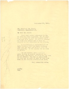 Thumbnail of Letter from Augustus Granville Dill to Harrison William Keach