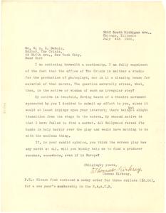Letter from Thomas Kirksey to W. E. B. Du Bois