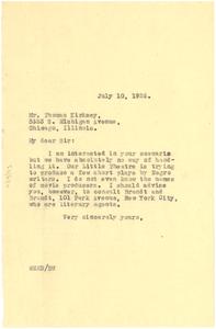 Letter from W. E. B. Du Bois to Thomas Kirksey