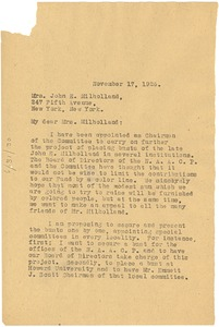 Thumbnail of Letter from W. E. B. Du Bois to Jean Milholland