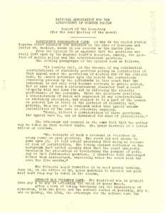 Thumbnail of NAACP report of the secretary for the June meeting of the board