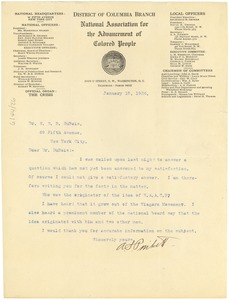 Thumbnail of Letter from A. S. Pinkett to W. E. B. Du Bois