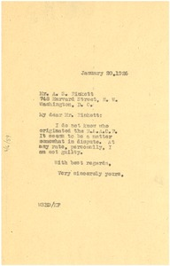 Thumbnail of Letter from W. E. B. Du Bois to A. S. Pinkett