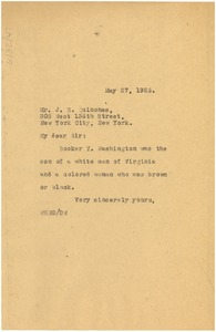 Thumbnail of Letter from W. E. B. Du Bois to J. R. Quiñones