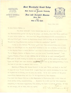 Thumbnail of Letter from A. A. Schomburg to W. E. B. Du Bois