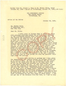 Thumbnail of Letter from Robert L. Vann to Walter White