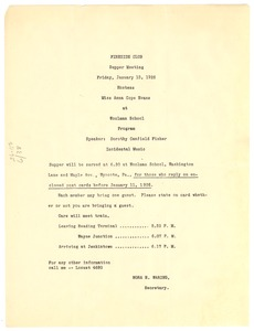 Thumbnail of Fireside Club supper meeting program