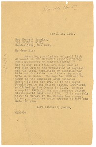 Thumbnail of Letter from W. E. B. Du Bois to The World's Work
