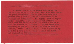 Thumbnail of Note from Mabel E. Adams to W. E. B. Du Bois