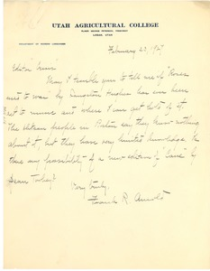 Thumbnail of Letter from Frank R. Arnold to Editor of the Crisis