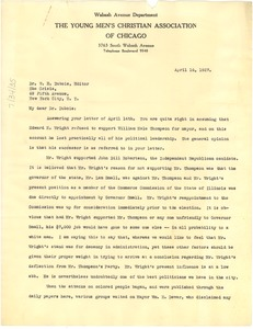 Thumbnail of Letter from George R. Arthur to W. E. B. Du Bois