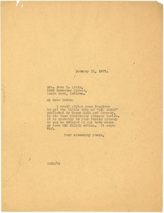 Thumbnail of Letter from W. E. B. Du Bois to Jane C. Artis