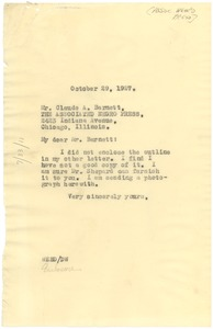 Thumbnail of Letter from W. E. B. Du Bois to Associated Negro Press