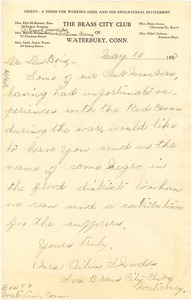 Thumbnail of Letter from A. S. Worders to W. E. B. Du Bois