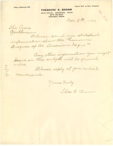 Thumbnail of Letter from Theodore R. Brown to Crisis