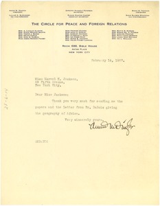 Thumbnail of Letter from Annie M. Dingle to Marvel K. Jackson Cooke