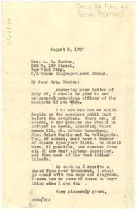 Thumbnail of Letter from W. E. B. Du Bois to Addie W. Hunton