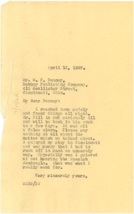 Thumbnail of Letter from W. E. B. Du Bois to Wendell P. Dabney