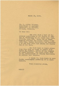 Thumbnail of Letter from W. E. B. Du Bois to P. Arthur Delaney