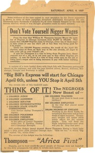 Thumbnail of Don't vote yourself Nigger wages