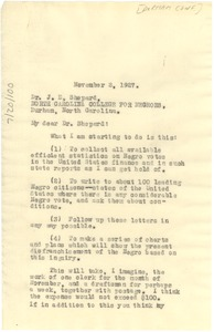 Thumbnail of Letter from W. E. B. Du Bois to The Durham Conference