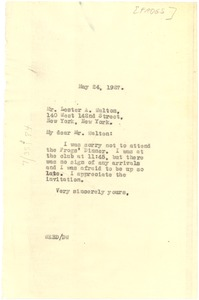Thumbnail of Letter from W. E. B. Du Bois to The Frogs
