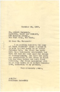 Thumbnail of Letter from W. E. B. Du Bois to Harcourt, Brace, and Company