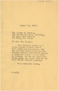 Thumbnail of Letter from W. E. B. Du Bois to the Harmon Awards